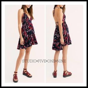 FREE PEOPLE 100 Degree Printed Mini Dress